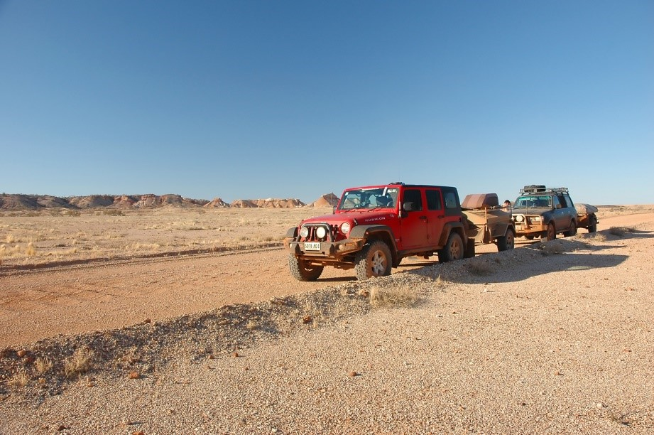 off-road trailers for overland adventures jeep pulling trailer down dirt road
